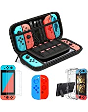 Case Bundle for Nintendo Switch & OLED Model Protective Hard Portable Travel Carry Case Shell Pouch for Nintendo Switch Console and Accessories