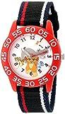 Disney Boy's 'Lion Guard' Quartz Plastic and Nylon Watch, Color Black (Model: W002645)