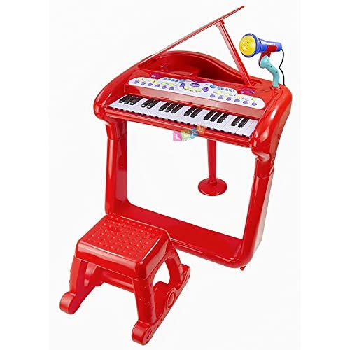 Large piano + chair for toddler ROUGE