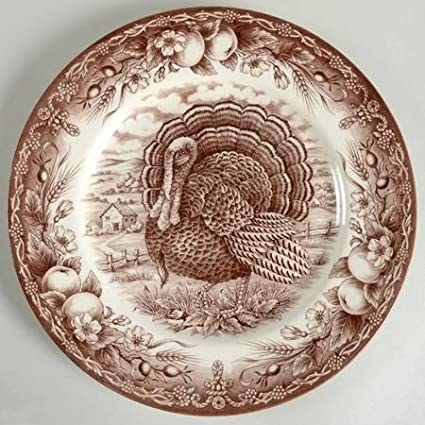 Victorian English Pottery Royal Thanksgiving-Brown Dinner Plate Fine China Dinnerware  sc 1 st  Amazon.com : victorian dinnerware - Pezcame.Com