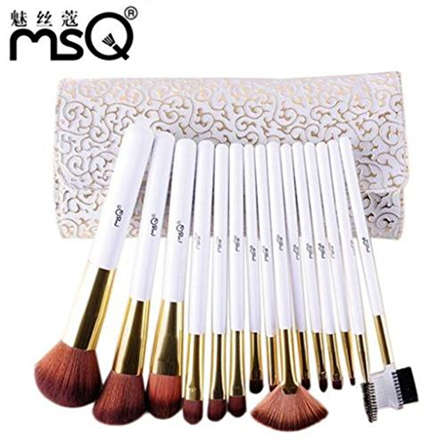 Roman Makeup (ShungHO MSQ Brand 15pcs Makeup Brushes Set,Roman Style Beauty Comestic Makeup Brushes Tools)