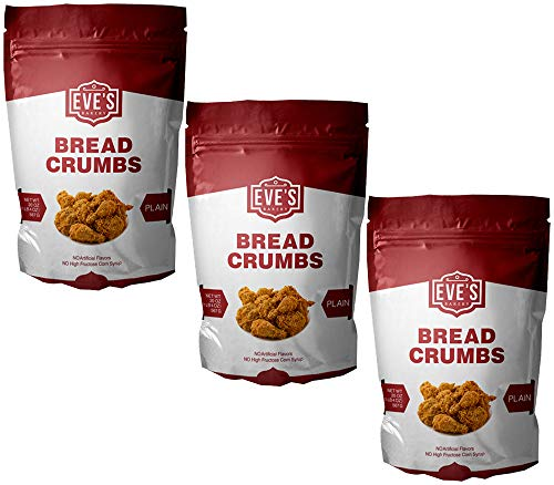 Plain Bread Crumbs - Eves Bakery Plain Bread Crumbs, 20 Ounce, Pack of 3