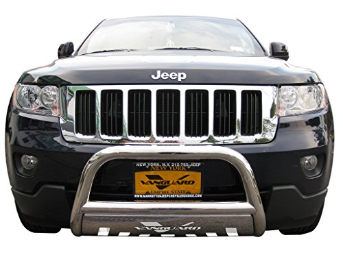 VANGUARD Off Road VGUBG-0946SS Multi-fit Bumper Guard Stainless Steel Bull Bar with Skid ()