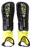 Vizari Malaga Soccer Shin Guards | Soccer Gear | Lightweight Protective Gear | Easily Adjustable Straps | Black/Yellow XXS