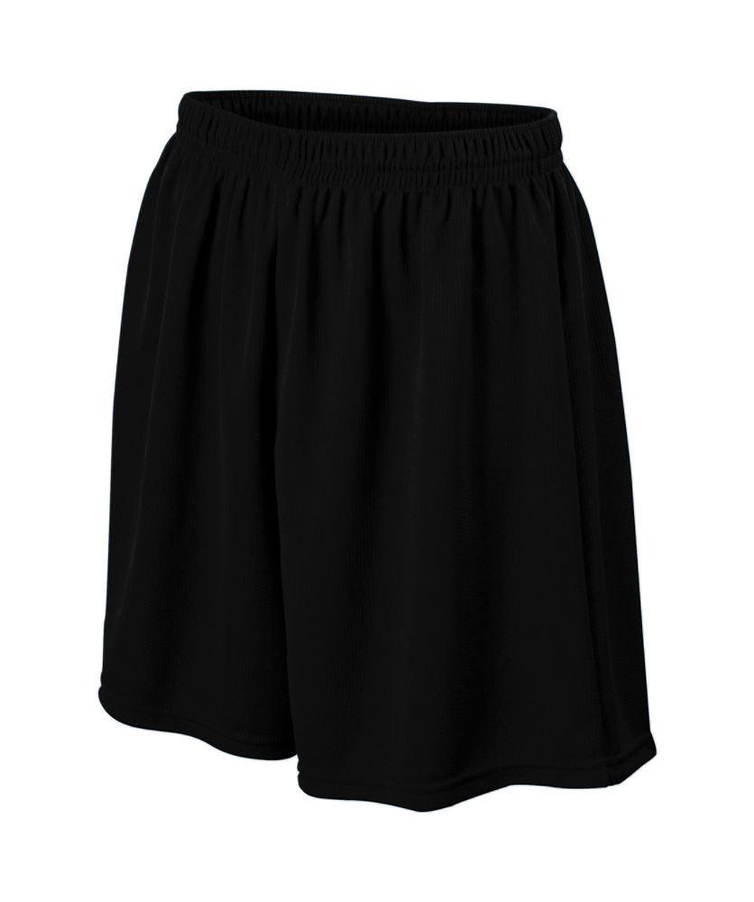 Augusta Sportswear Boys ' WickingメッシュSoccer Short B008KD30ME Medium|ブラック ブラック Medium
