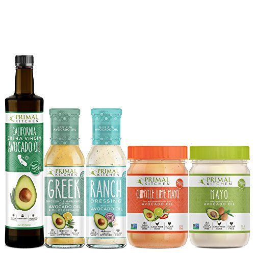 - Primal Kitchen Whole 30 Starter Kit Includes Extra Virgin Avocado Oil, Avocado Oil Mayo, and Avocado Oil Dressings (5 count)