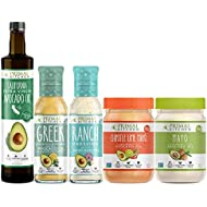 Primal Kitchen Whole 30 Starter Kit - Includes Extra Virgin Avocado Oil, Greek & Ranch Dressing & Marinade, and Original & Chipotle Lime Avocado Mayo