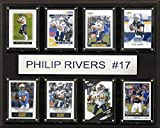 C&I Collectables NFL San Diego Chargers Philip Rivers 8-Card Plaque, 12 x 15-Inch