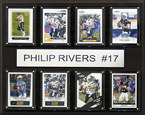 C&I Collectables NFL San Diego Chargers Philip Rivers 8-Card Plaque, 12 x 15-Inch by C&I Collectables