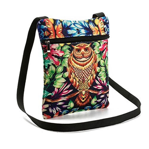 Bag A Shoulder Women's Luoluoluo Owl Bag Handbag Postman bag Handbag Party Printed Woman w1PTaq