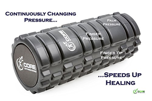 Core Fitness Zone Foam Roller 2 in 1, High Density Grid for Deep Tissue Massage + Low Density Roller for Sensitive Areas – Ebook Shows How Myofascial Release Improves Movement, with Detailed Exercises