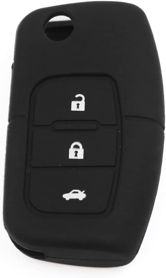 3 Buttons Silicone Smart Remote Key Case Cover Black Fits for Ford Focus Fiesta
