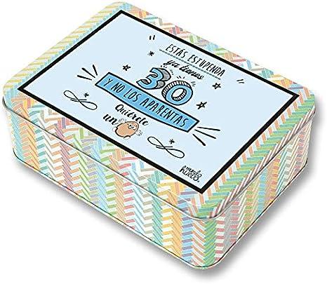 Regalo Mujer 30 años. Pack Caja metálica 18x13x6 cm, Bolsa 35x40 ...