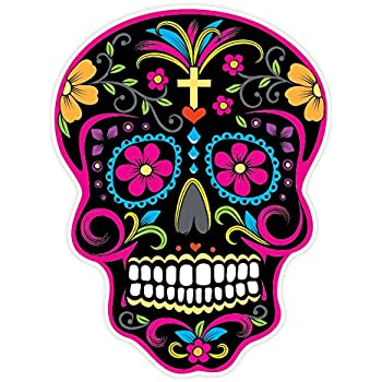 Osmdecals sugar skull sticker version 27 day of the dead vinyl wall home decor car window bumper decal sticker