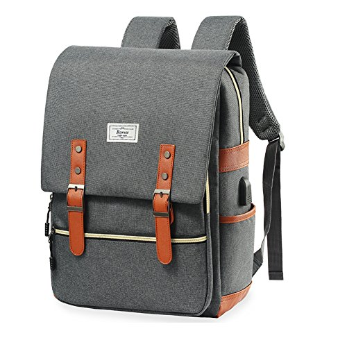Travel Outdoor Computer Backpack Laptop bag small(grey) - 4
