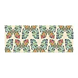 Kess InHouse Art Love Passion Butterfly Pattern Green Red Bed Runner, 34'' x 86''