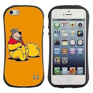 Suave TPU GEL Carcasa Funda Silicona Blando Estuche Caso de protección (para) Apple Iphone 5 / 5S / CECELL Phone case / / Teddy Bear Drawing Cartoon Toy Animation /
