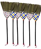 Caravelle Thai straw soft Broom with cover 12'' head width, 38'' overall length for hardwood floor-1pc