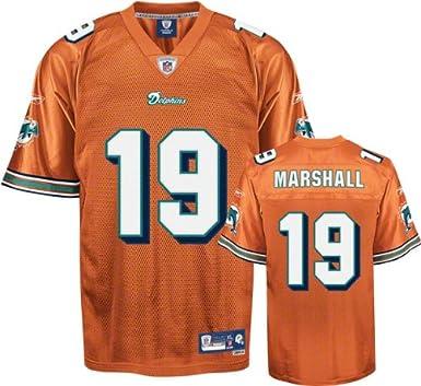 f14f8a7d1 NFL MIAMI DOLPHINS BRANDON MARSHALL AMERICAN FOOTBALL PREMIER JERSEY IN  ORANGE - MEDIUM  Amazon.co.uk  Clothing
