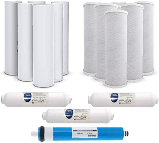 Littlewell 5-Stage 75 Gpd Reverse Osmosis 2-Year Supply Filter Pack