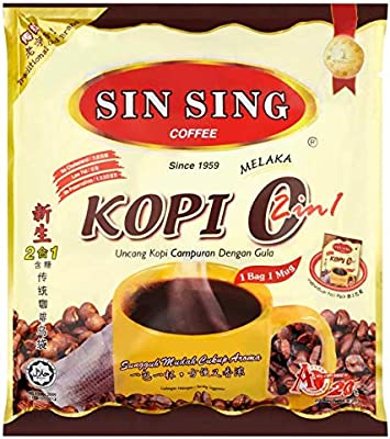 Amazon.com : 4 Pack Sin Sing Black Coffee (Kopi O) 2 in 1 with Sugar added Imported from Malaysia (4 x 20 Sachets) Free Express Delivery : Grocery & Gourmet ...