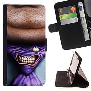 - TIE ART TIE DRAWING SUIT NECK MAN - - Prima caja de la PU billetera de cuero con ranuras para tarjetas, efectivo desmontable correa para l Funny HouseFOR Samsung Galaxy S4 Mini i9190