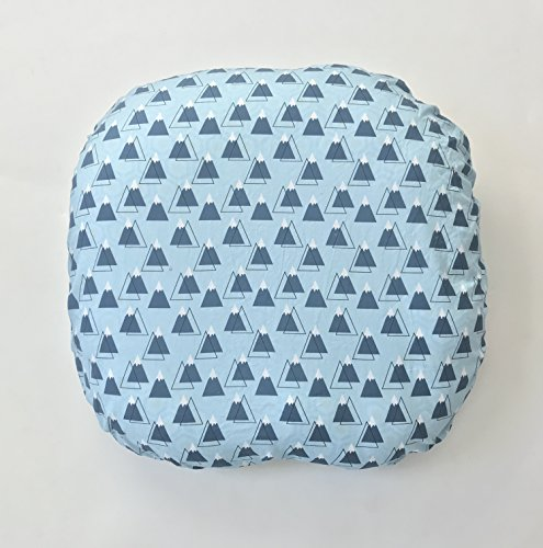 - Lounger Cover - Powder Blue Mountain Peaks
