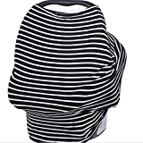 Soft and Stretchy Multi-Use Nursing cover, Baby Car Seat Cover, Stroller cover and Shopping Cart cover by GoGoBaby - Best Baby Shower Gift