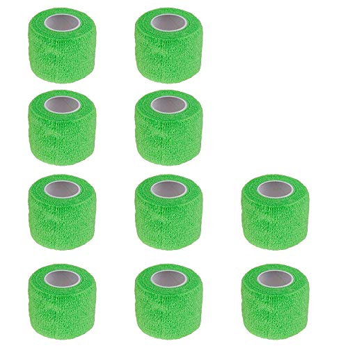 Etopars™ 10 X Self Adhesive Cohesive Wrap Bandages Strong Elastic First Aid Tape Green for Wrist Ankle Sport 2