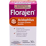Florajen Acidophilus High Potency Probiotics | for Potent Probiotic Benefits and Supports Immune, Digestive, Vaginal and Urinary Health | 20 Billion CFUs| 30 Capsules | Packaging May Vary