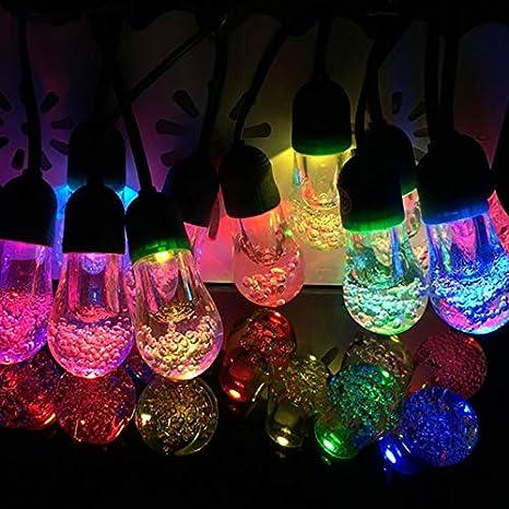 separation shoes d7660 ea883 Garden Mile® 10x Solar Colour Changing Bubble Bulb LED String Lights 3.8m  Length Solar Fairy Lights Solar Powered Garden Lights Hanging String Lights  ...