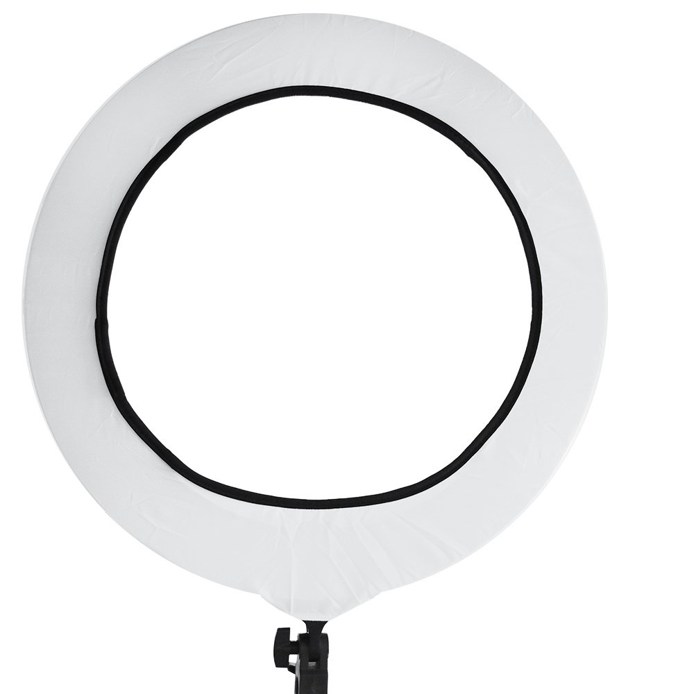 18 Inches Photographic Lighting Diffuser Cover Diffusion Cloth for LED Ring Light (White)