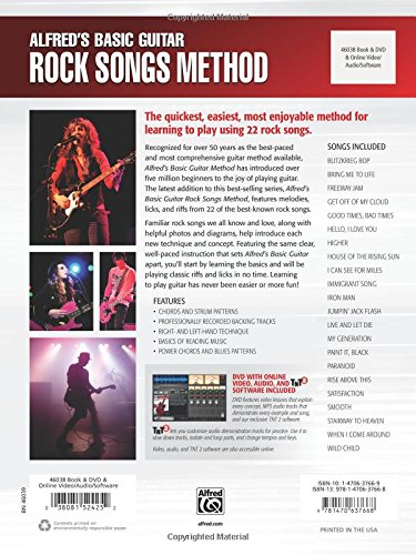 Alfred's Basic Guitar Rock Songs Method, Bk 1: Learn How to Play Guitar with Melodies and Riffs from 22 Classic Rock Songs, Book, DVD & Online Audio, Video & Software (Alfred's Basic Guitar Library)