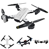 2018 RC Drone,Tangon FPV RC Quadcopter 2MP HD Wifi 2.4G 4CH 6-Axis Gyro - Optical flow dual camera,''V'' Gesture Selfie, Optical flow Localization, Self Power Off Protection, Long Endurance (White)