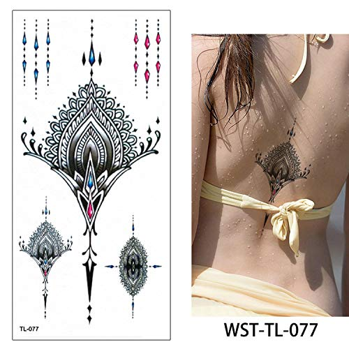 Temporary Body Chest Waist Art Tattoo Sticker Cool Sexy Choker Pendant,Wst-Tl-077