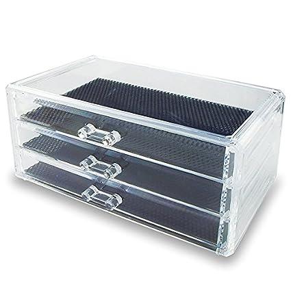 LEORX - Cajonera de almacenaje transparente con 3 cajones ...