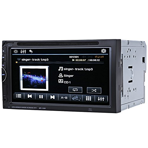 AUTOLOVER 1269 7 inch Bluetooth V3.0 Auto Radio Double Din 32GB Car Stereo Touch Screen DVD Player In-dash Video Mic