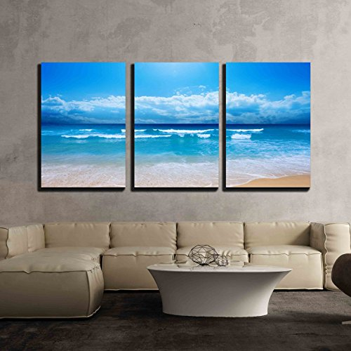 Gorgeous Beach in Summertime x3 Panels