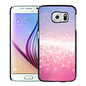 Fashionable Custom Designed Samsung Galaxy S6 Phone Case With Pink Glitter Stardust_Black Phone Case