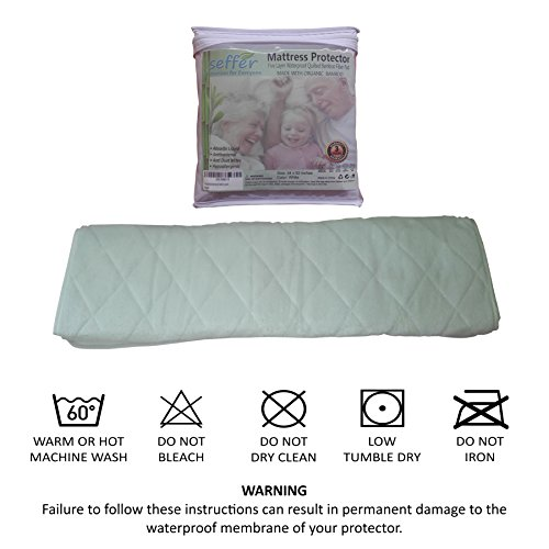 Incontinence Bed Pad Waterproof Mattress Sheet Protector Machine Washable (52'' X 34'') Highly Absorbent Bed Wetting Cover | Extra Soft Bamboo Sleeping Comfort | Kids and Adults by Seffer (Image #5)