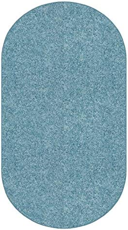 Koeckritz 9 X12 Oval Teal 25.5 oz 1 2 Thick Plush Cut Pile Indoor Carpet Area Rug