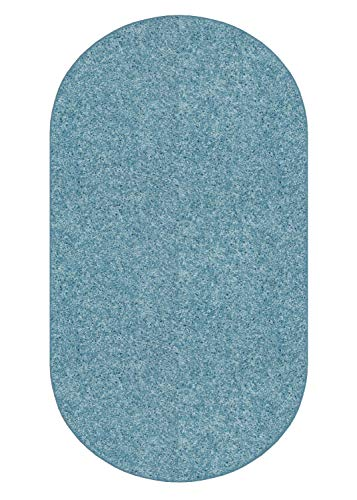 Koeckritz 6 X9 Oval Teal 25.5 oz 1 2 Thick Plush Cut Pile Indoor Carpet Area Rug