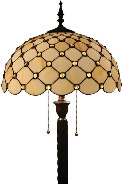 LHFJ Lámpara de pie de pie Estilo Tiffany, lámpara de pie de ...