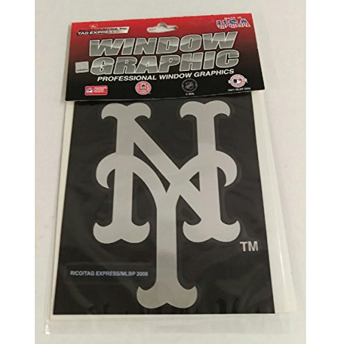 New York Mets 5'' x 6'' Silver Window Graphic Decal ()