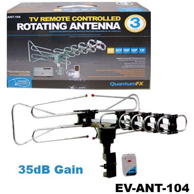 QuantumFX ANT-104 Remote Controlled Rotating Outdoor Antenna