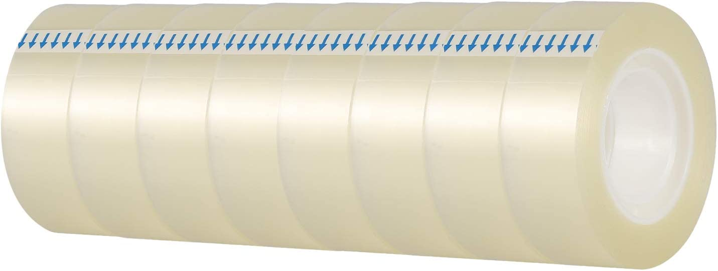 KIDMEN Transparent Tape,Clear Tape for Office,Home, School,8 Rolls,0.7 x 1300 Inch