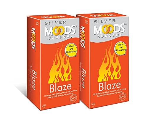 Moods Silver Blaze Condom, 12 Count (Pack of 2)