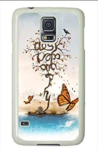 Samsung Galaxy S5 Cases and Covers - Abstract Fall Poster Print Polycarbonate Case for Samsung Galaxy S5 White