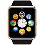 Smart Watch Cell Phone Watch Camera Watch Has SIM Card Slot And a slot for a SD Micro Card. Works on GSM GT08 Is Great for Men Women And Teens by Abell-Mart LLC