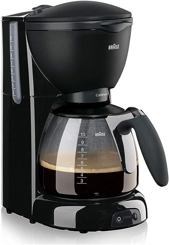 Braun KF 560 Cafetera eléctrica con Sistema OptiBrew, 1100 W, 35 dB, acero inoxidable, 10 tazas, negro: Amazon.es: Hogar